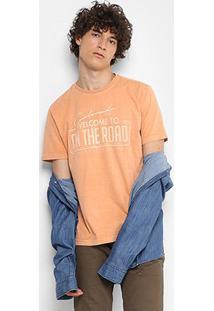 Camiseta Drezzup Estonada Estampada Masculina - Masculino-Nude
