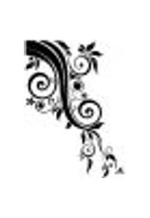 Adesivo De Parede - Floral Em Canto - 023Fl-P