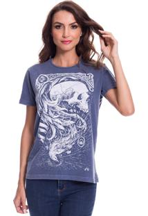 Camiseta Jazz Brasil Caveira Fênix Azul