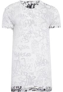 Camiseta Masculina Manga Curta Dupla Face - Off White