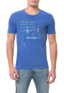 Camiseta Ckj Mc Estampa We Are Azul Camiseta Ckj Mc Estampa We Are - Azul - Pp