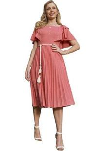 Vestido Via Parisi Fascinius Hilary Feminino - Feminino-Laranja