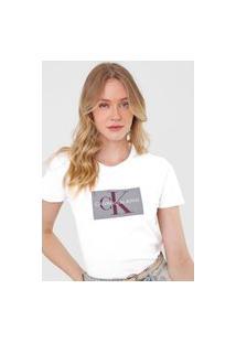 Camiseta Calvin Klein Jeans Issue Branca