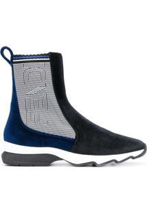 Fendi Ankle Boot Com Recortes - Preto