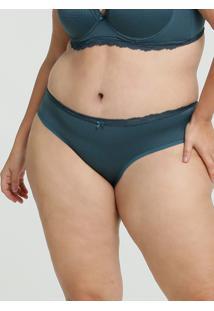 Calcinha Feminina Biquíni Jacquard Bolinhas Plus Size Marisa