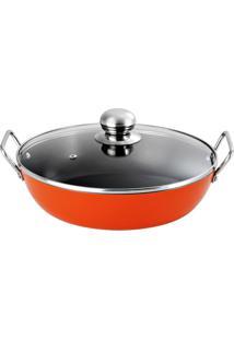 Frigideira Gourmet Com Alça Laranja 32 Cm - Nigro