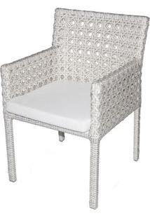 Cadeira Paradise Estrutura Aluminio Revestido Em Fibra Sintetica Cor Branco - 44549 - Sun House