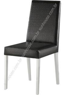 Cadeira Salvia Estofada Courino Preto - 36187 - Sun House