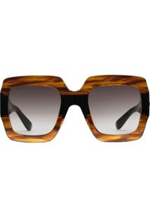 Gucci Eyewear Square-Frame Sunglasses - Marrom