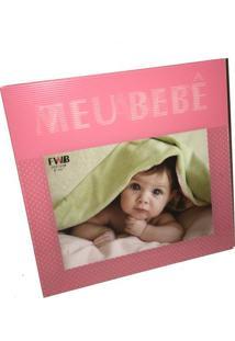 Porta Retrato Em Vidro 3D Meu Bebê Rosa 20 X 15 Cm 98239