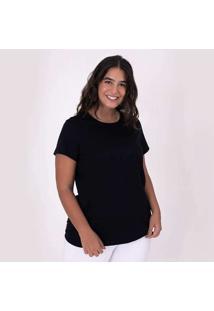 Camiseta Reta Feminina Gola C Anti Odor Super Cinz