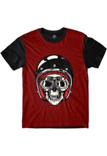 Camiseta Bsc Caveira De Capacete Preto Sublimada Masculina - Masculino