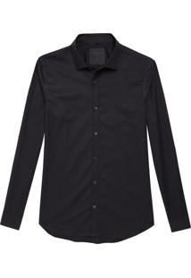 Camisa John John Slim Black Preto Masculina (Preto, M)
