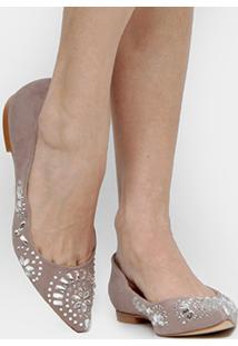 Sapatilha Shoestock Hot Fix - Feminino-Cinza