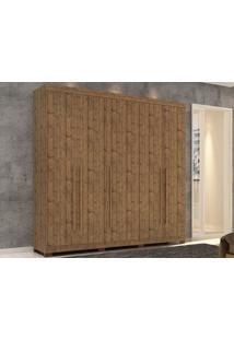 Guarda-Roupa 5 Portas Mustang Pinus Real - Lc Móveis