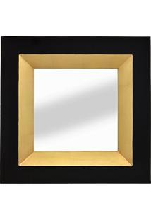 Espelho Preto E Dourado Asten 67X67Cm