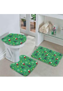 Jogo Tapetes Para Banheiro Christmas Único - Kanui