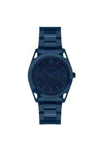 Relógio Euro Feminino Metal Frame Azul Analógico Eu2035Ypq4A