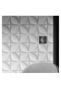 Papel De Parede Adesivo Autocolante Efeito 3D Flores Branco E Cinza