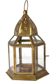 Lanterna Sextavada Com Porta-Vela