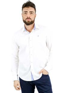 Camisa Norfolk Com Recortes & Bordado - Masculino
