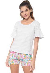 Pijama Malwee Liberta Floral Branco/Rosa