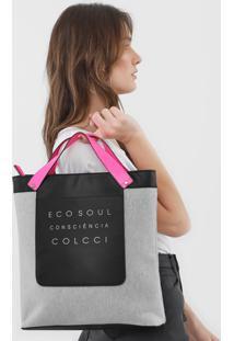 Bolsa Colcci Eco Soul Cinza/Rosa