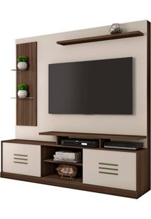 "Estante Home Samba Para Tv Até 60"" Imbuia/Off White"
