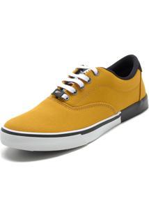 Tênis Ellus Recortes Amarelo