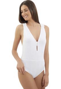 Body Le Lis Blanc Talice Tricot Off White Feminino (Off White, P)