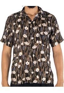 Camisa Andy Roll Clothing Floral Groubles No Marrom