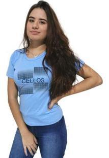 Camiseta Cellos Degradê Premium Feminina - Feminino-Azul Claro