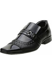 Sapato Social Venetto Moderno - Masculino-Preto