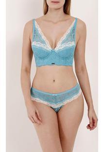 Conjunto De Lingerie Feminino Azul