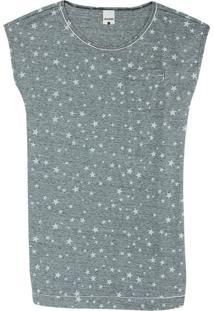 Camisola Cinza Estrelas Anti Odor