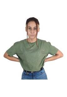 Cropped Camiseta Colcci Com Aplicação