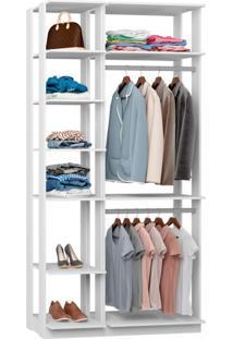 Guarda-Roupa Solteiro Modulado Clothes I Branco