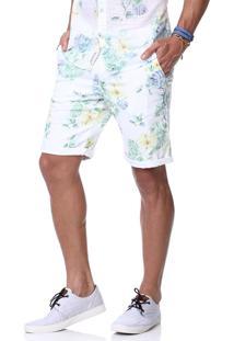Bermuda King&Joe Floral Branca
