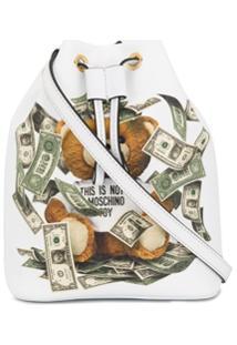 Moschino Bolsa Saco Com Estampa - Branco