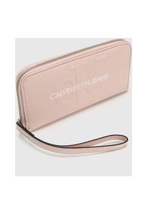 Carteira Logo Calvin Klein Rosa
