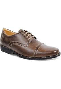 Sapato Casual Couro Oxford Sandro & Co. Hexram Masculino - Masculino-Marrom Claro