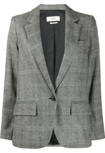 Isabel Marant Étoile Checkered Single-Breasted Blazer - Branco
