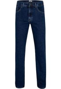 Calça Jeans Pierre Cardin Malha Denim Premium Masculina - Masculino-Marinho