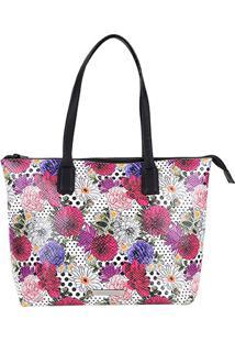 Bolsa Loucos & Santos Shopper Estampada Feminina - Feminino-Roxo+Rosa