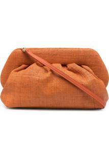Themoirè Woven Clutch Bag - Laranja