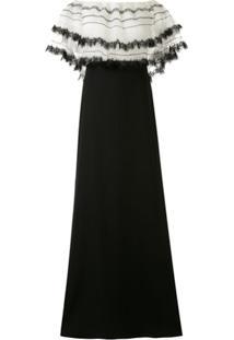 Tadashi Shoji Off The Shoulder Pleated Paillettes Gown - Branco