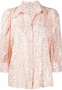 Stella Mccartney Blusa Com Estampa Abstrata - Rosa