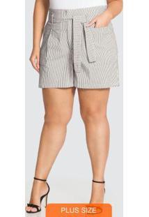 Shorts Sarja Branco