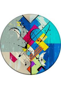 Tapete Love Decor Redondo Wevans Abstrato Color 94Cm