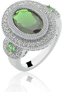 Anel Le Diamond Esmeralda Verde